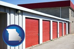 missouri map icon and a self-storage facility