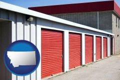 montana map icon and a self-storage facility