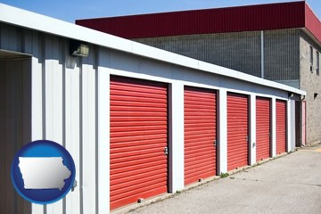 a self-storage facility - with Iowa icon
