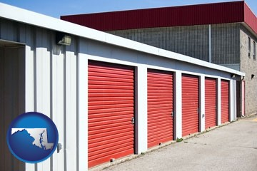 a self-storage facility - with Maryland icon