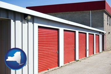 a self-storage facility - with New York icon