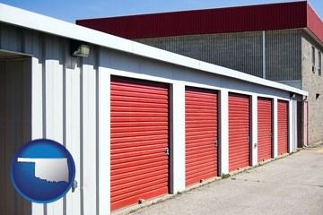 a self-storage facility - with Oklahoma icon