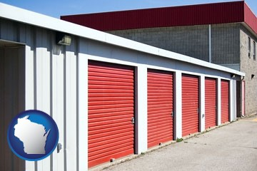 a self-storage facility - with Wisconsin icon