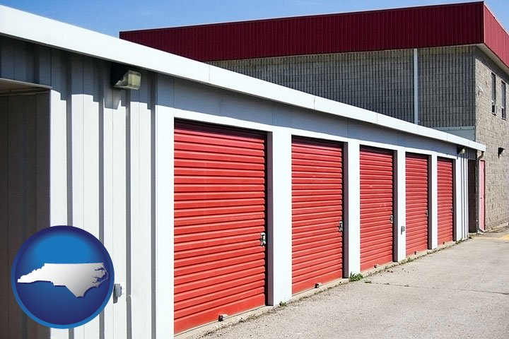 A Self Storage Facility   With North Carolina Icon